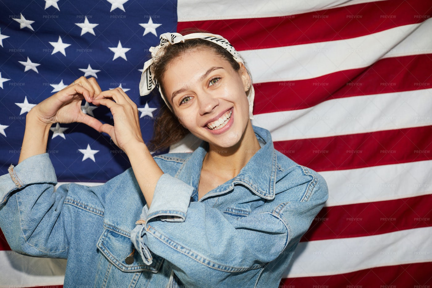 Jolly Young Patriot Of America: Stock Photos