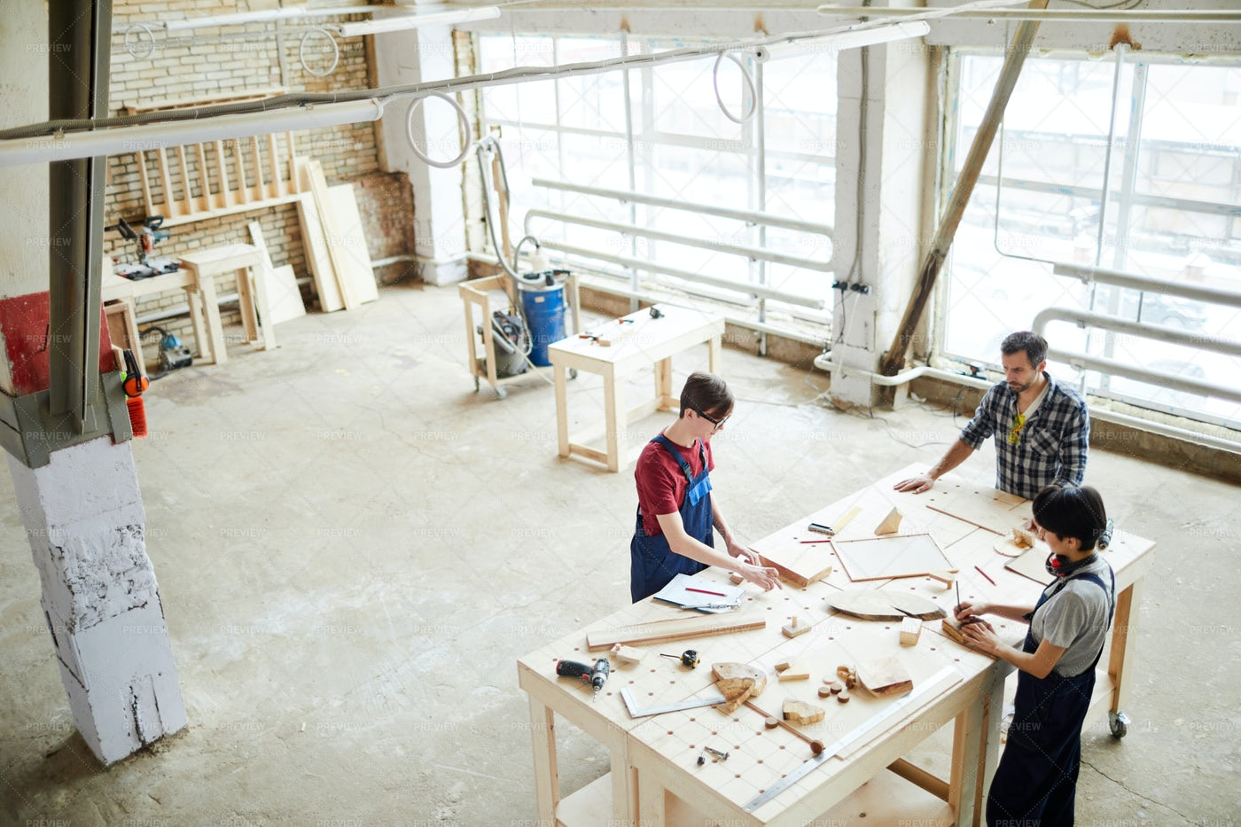 Workspace Of Carpenters: Stock Photos