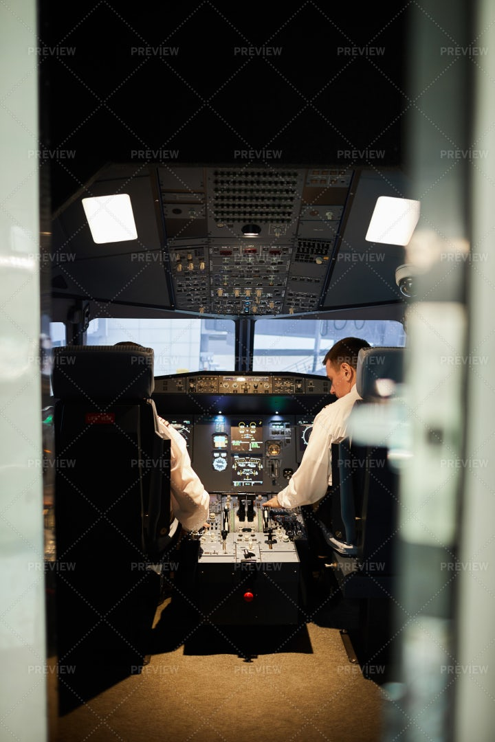Pilots In Cabin: Stock Photos