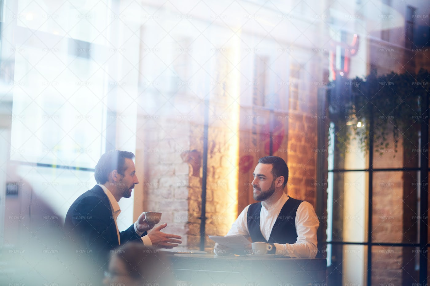 Business People On Lunch Break: Stock Photos