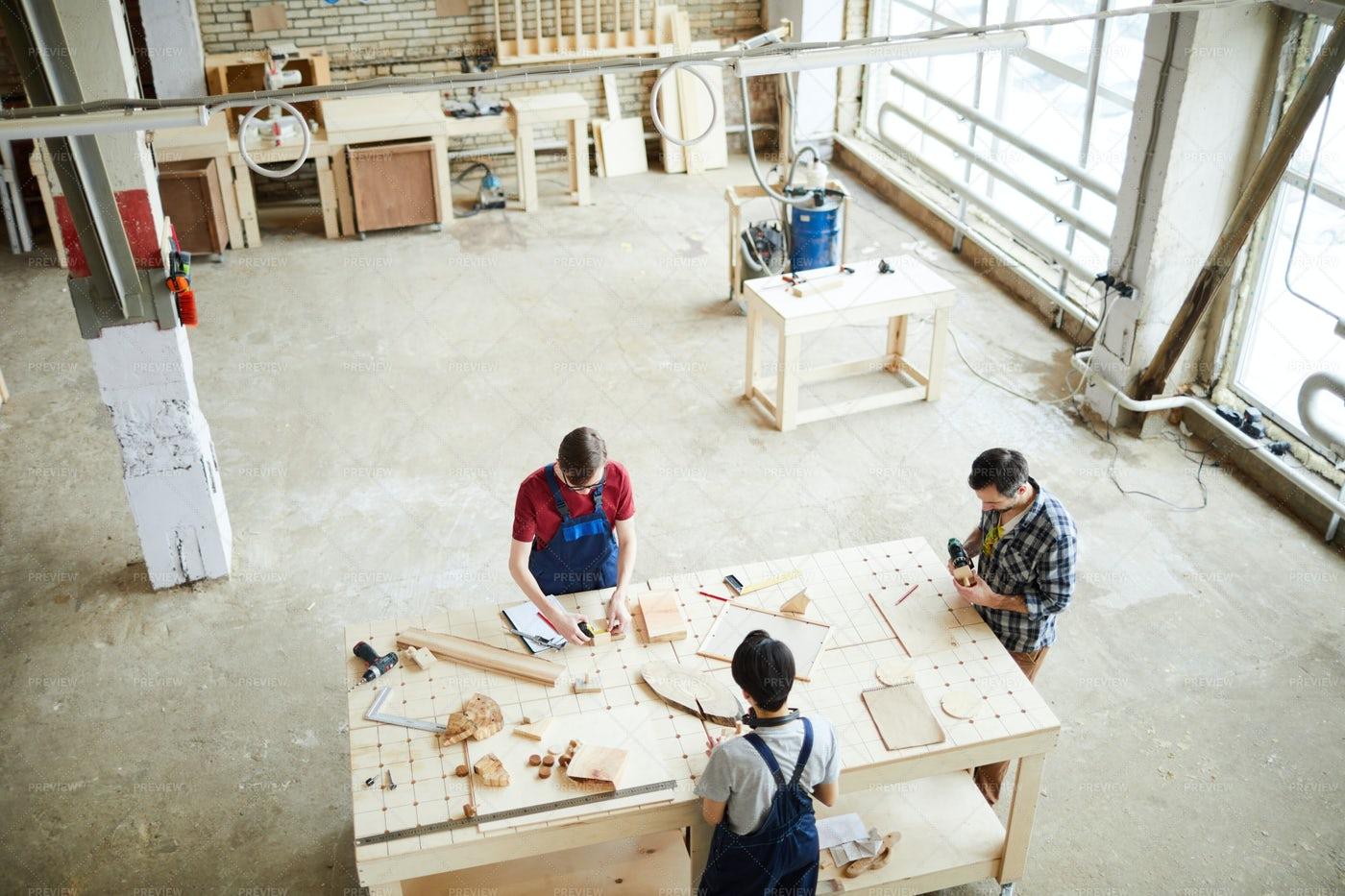 Producing Wooden Frames: Stock Photos