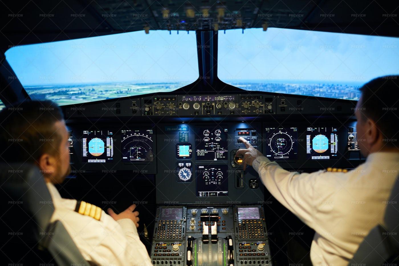 Team Of Pilots Flying Plane: Stock Photos