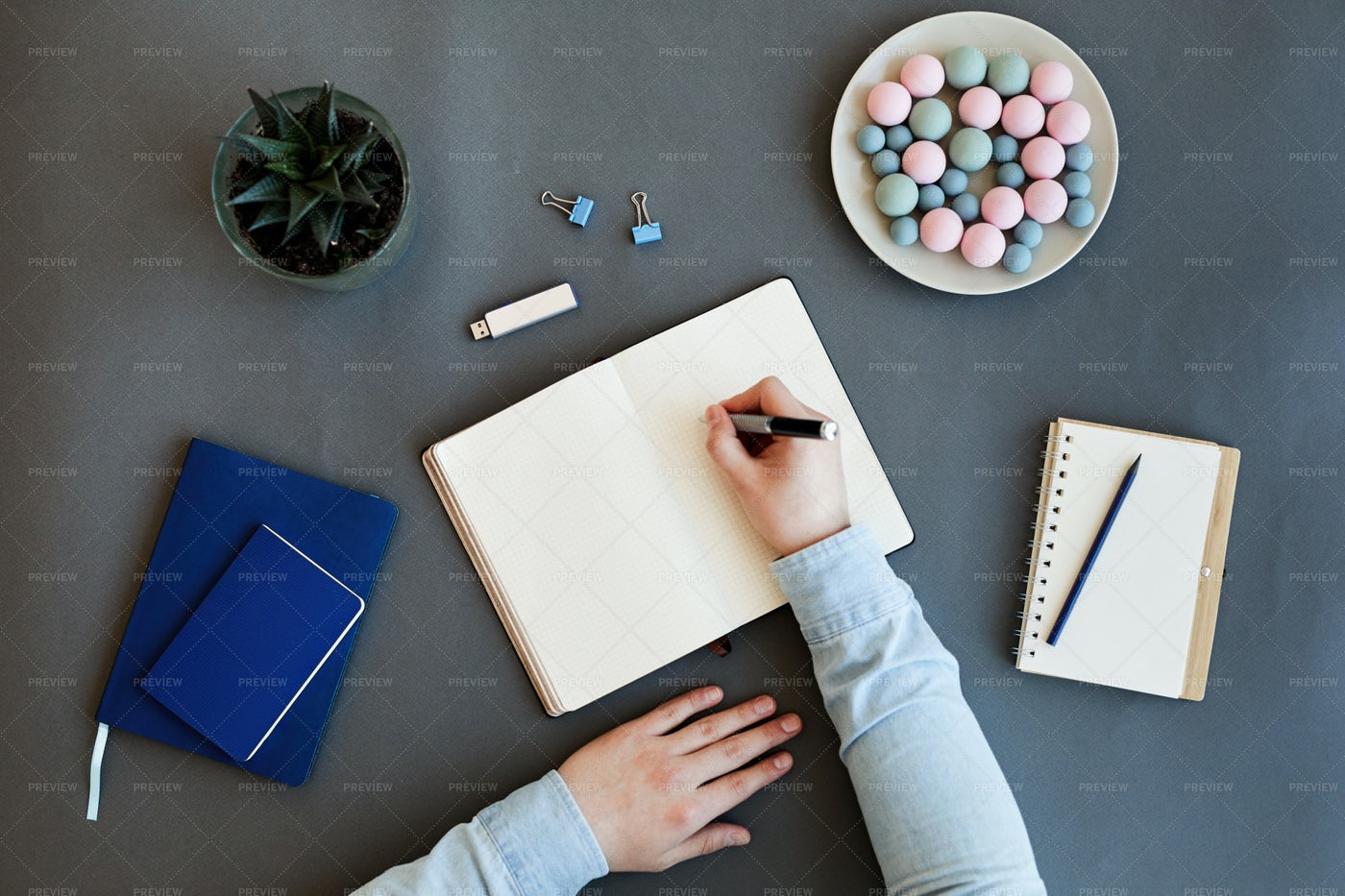 Writing Tasks Down In Diary: Stock Photos