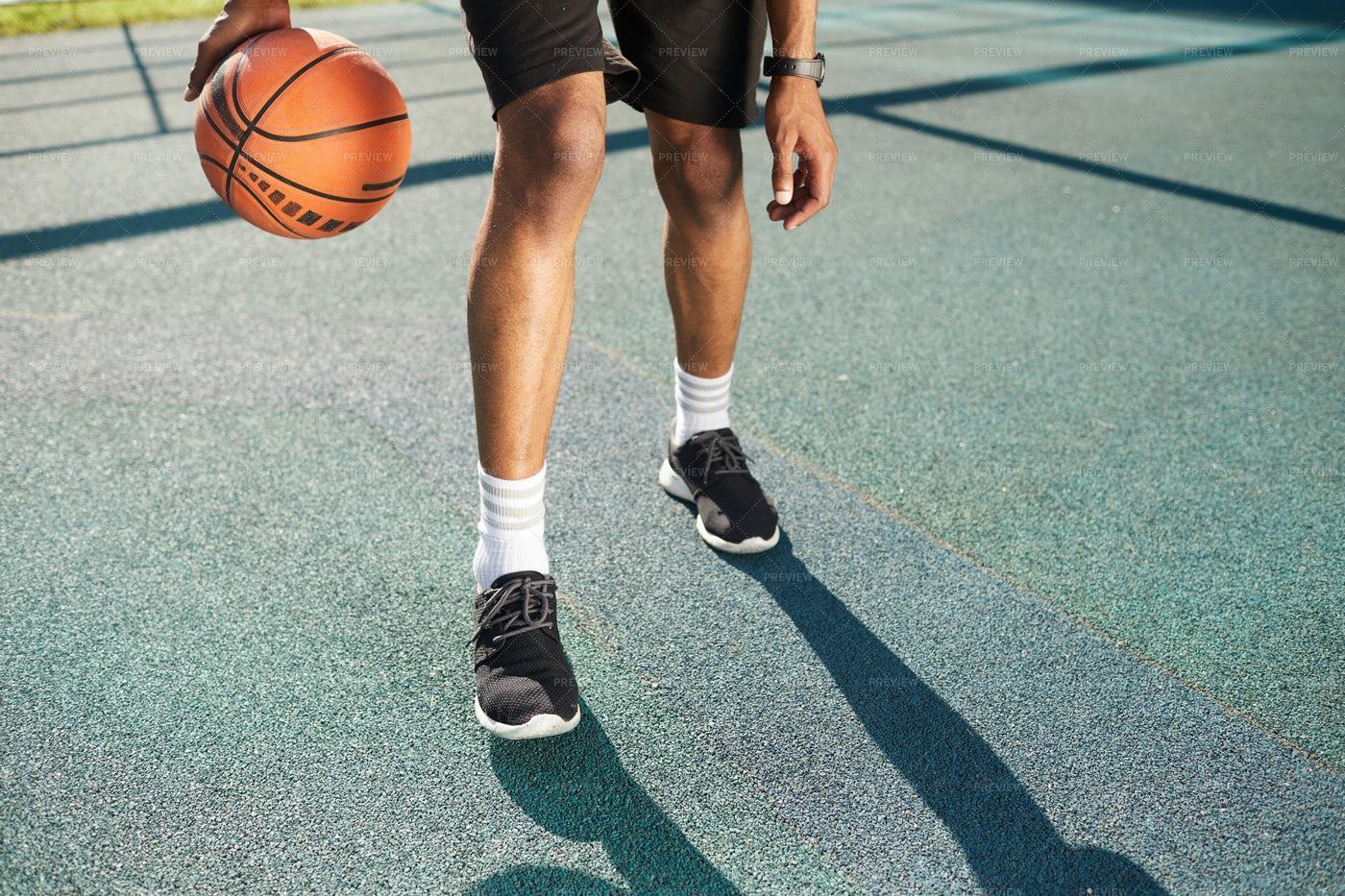 Legs Of Basketball Player: Stock Photos