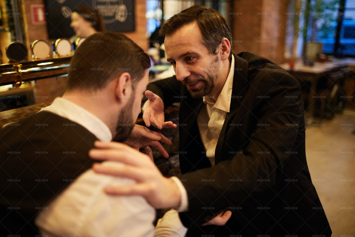 Business People In Bar: Stock Photos
