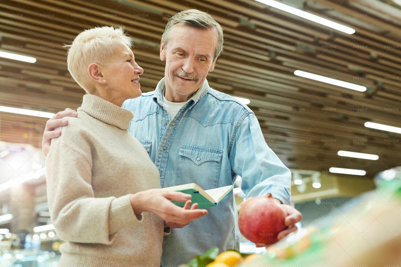 Smiling Senior Couple Grocery Shop: Stock Photos