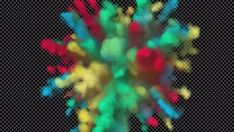 Colorful Powder Explosion Holiday: Motion Graphics