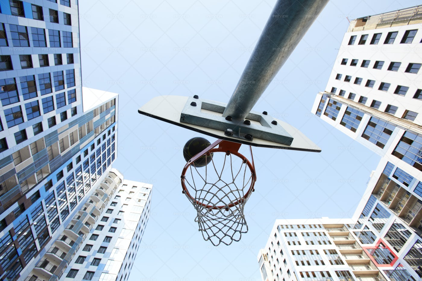 Basketball Hoop Background: Stock Photos