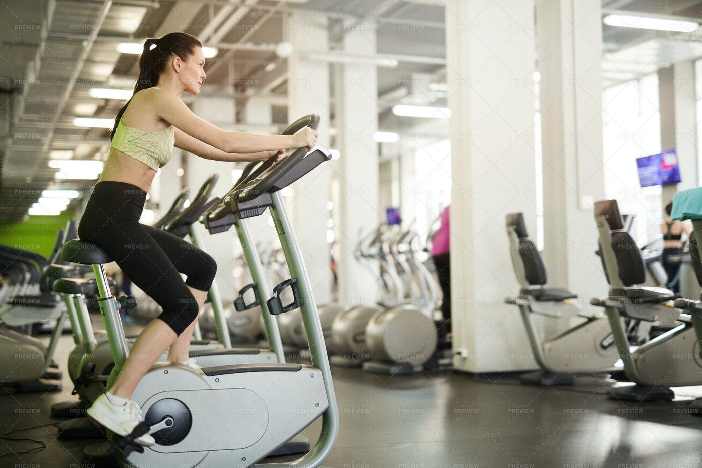 Cardio Workout In Gym: Stock Photos