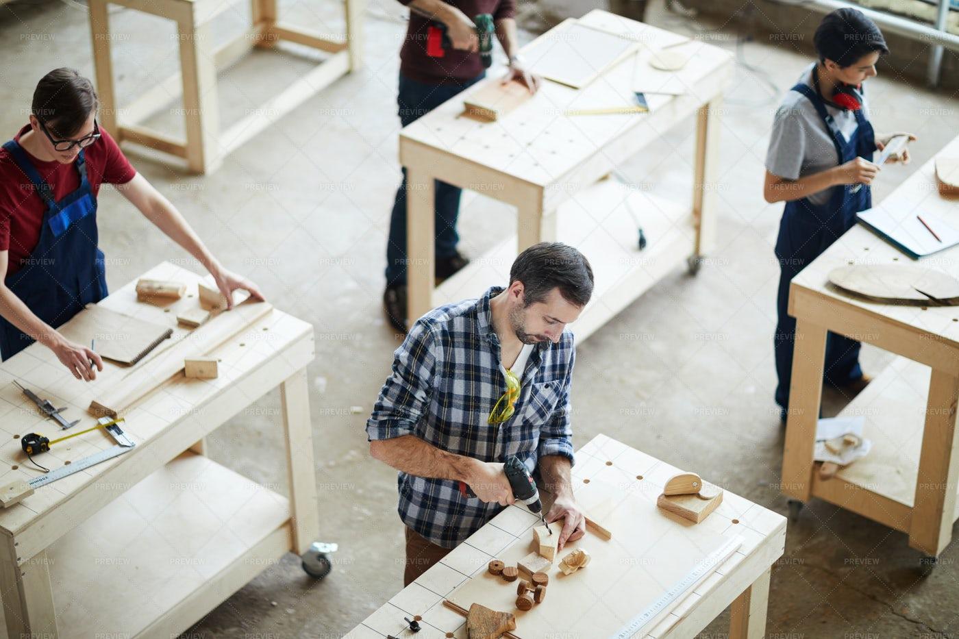Producing Wooden Toys: Stock Photos