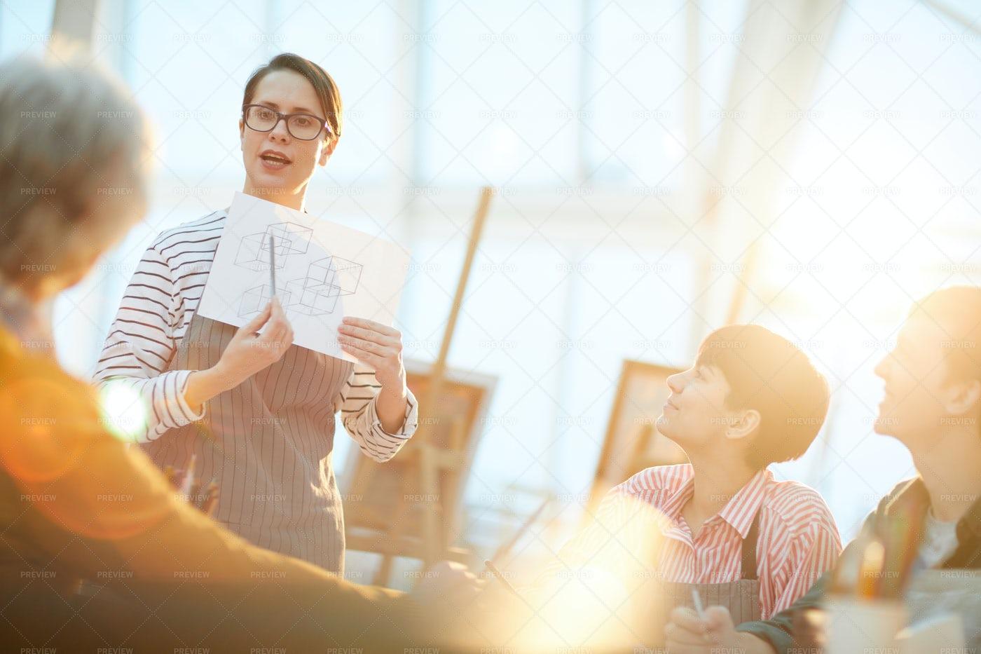 Female Art Teacher: Stock Photos