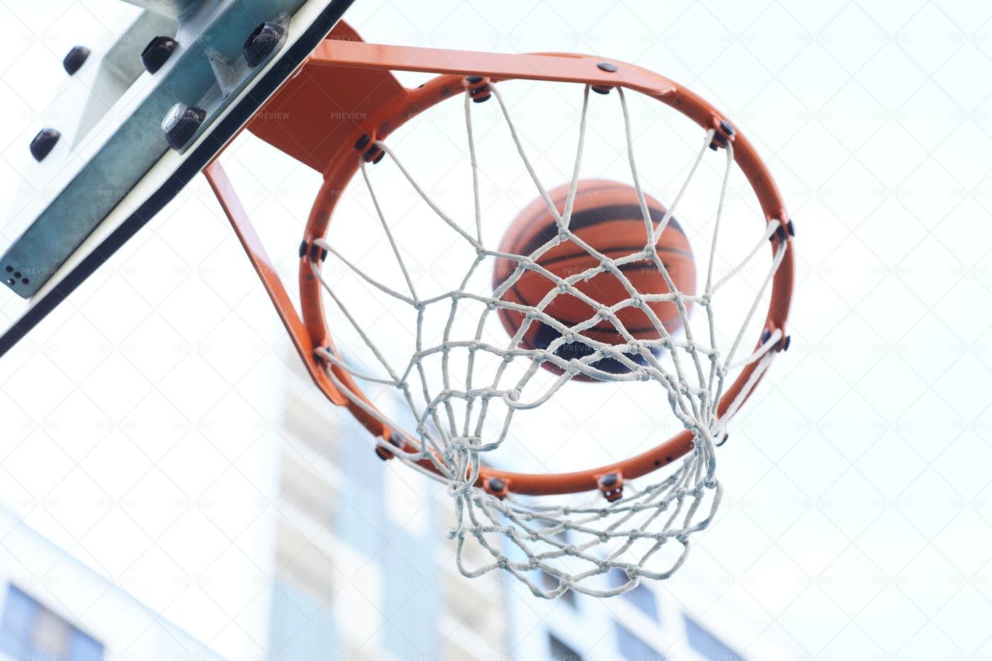 Basketball Hoop Close Up: Stock Photos