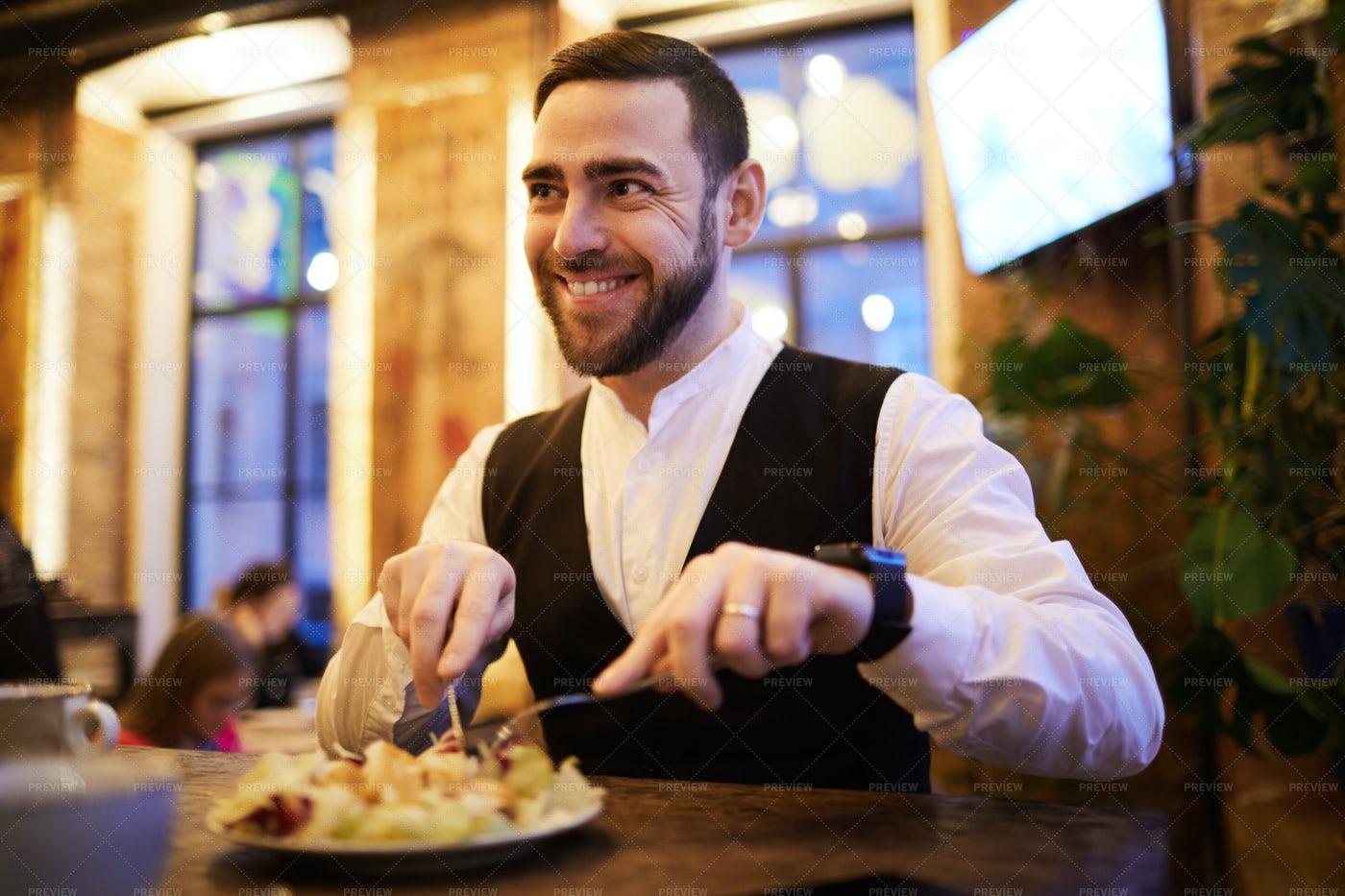 Businessman Eating Food: Stock Photos