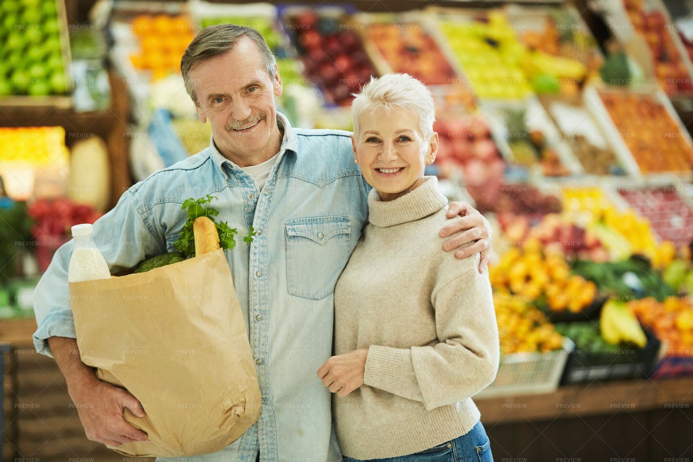 Seniors Grocery Shop: Stock Photos