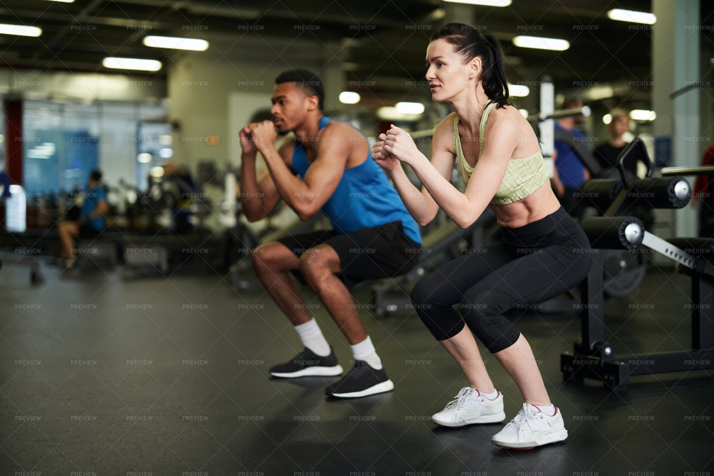 Sportive Couple Working Out: Stock Photos