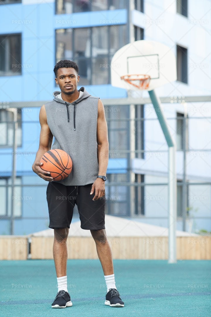 Basketball Player Posing: Stock Photos