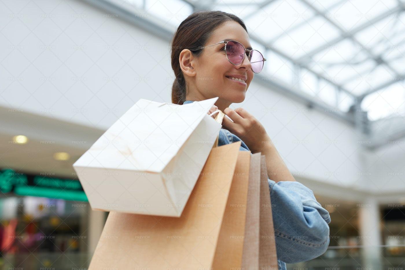 Girl Enjoying Shopping: Stock Photos