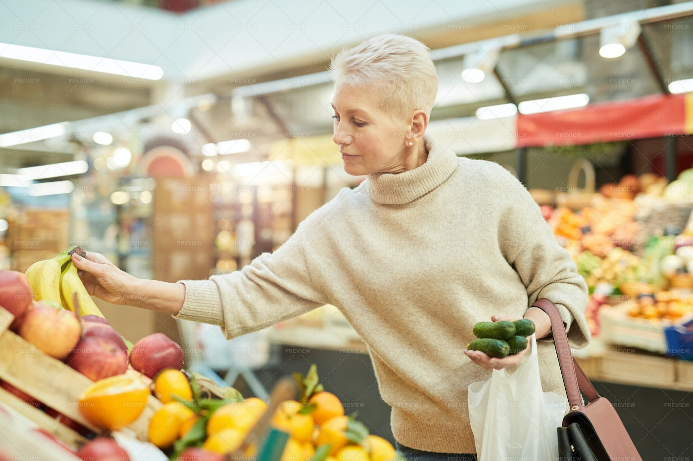 Woman Grocery Shopping: Stock Photos