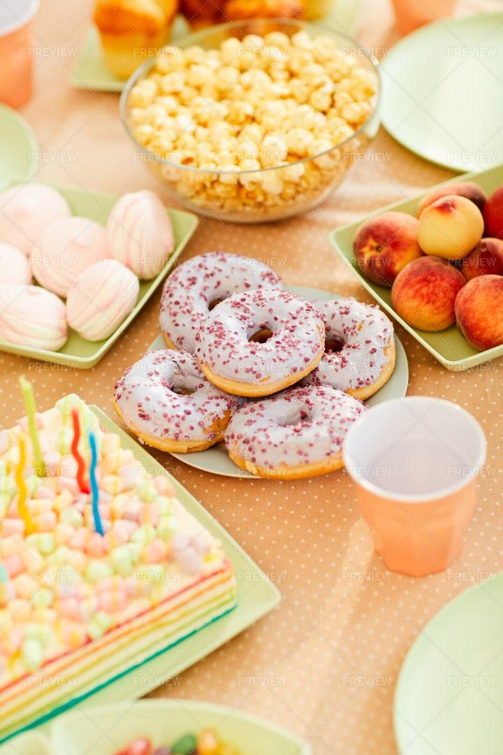 Birthday Table For Kids: Stock Photos