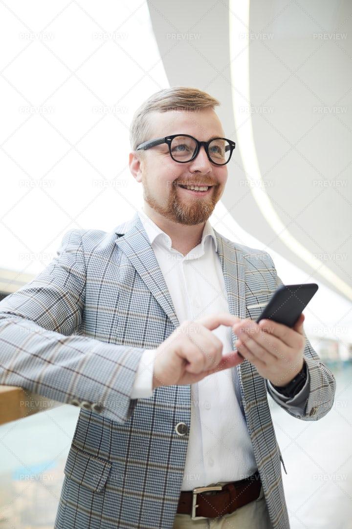 Positive Man Thinking: Stock Photos