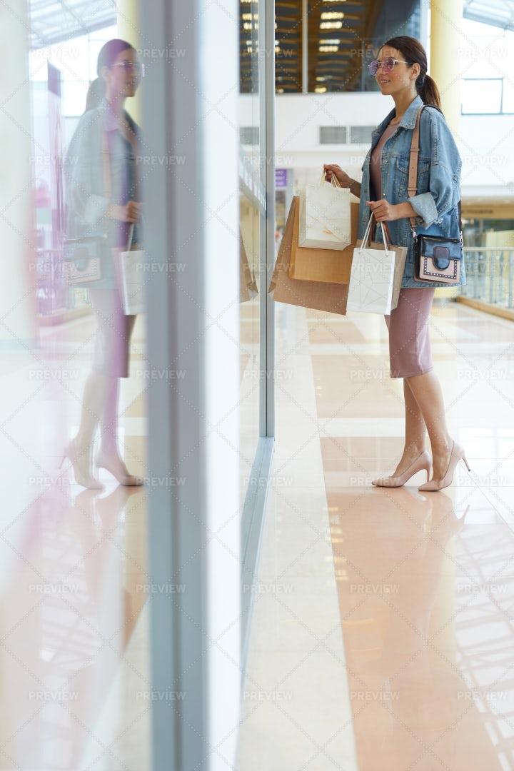 Girl In Mall: Stock Photos