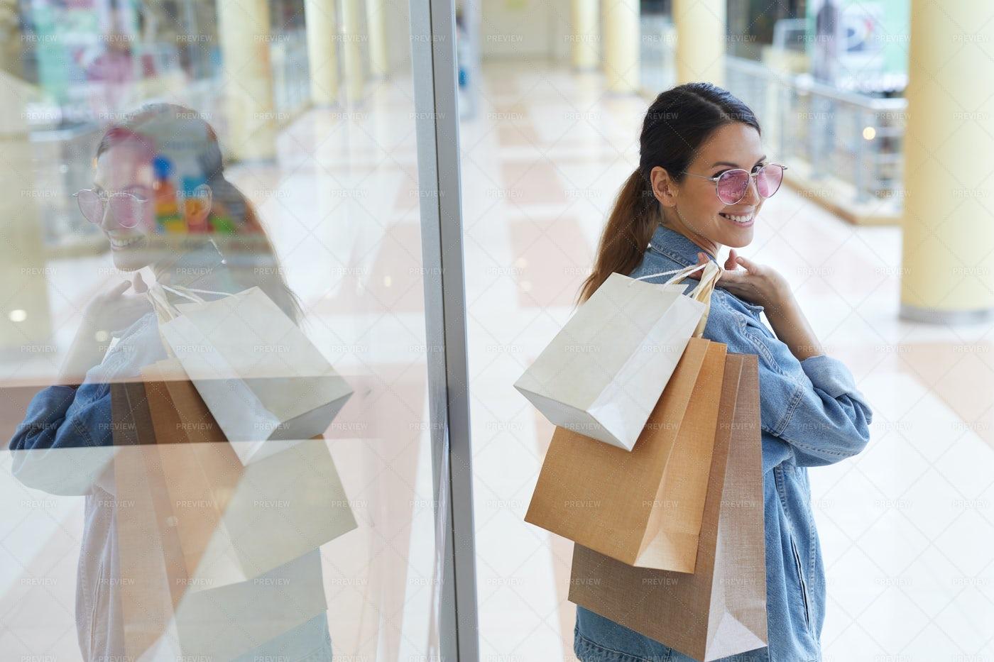 Walking Around Mall: Stock Photos