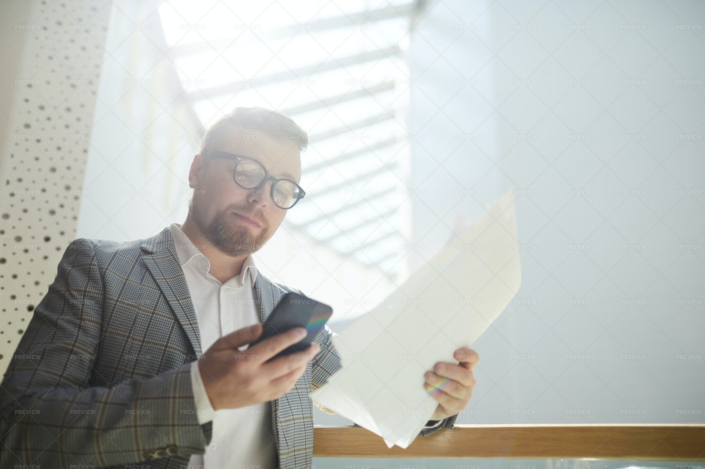 Businessman Working With Data: Stock Photos
