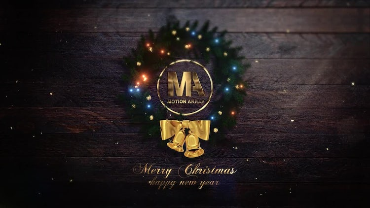 Merry Christmas Logo V_01: After Effects Templates