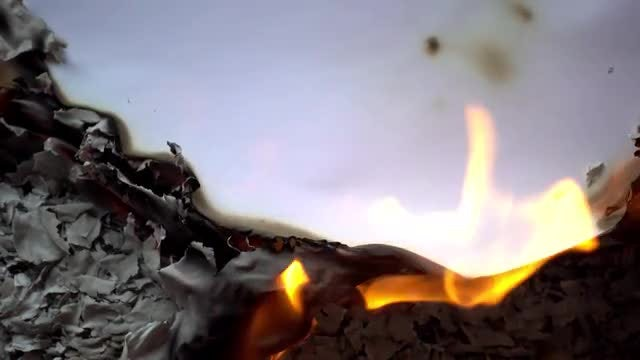 Burning Paper: Stock Video