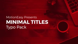 Minimal Titles Typo Pack: After Effects Templates