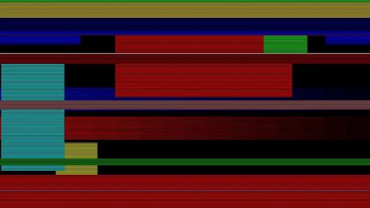 Random Color Glitch 4k: Stock Motion Graphics