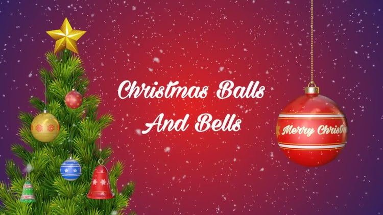 Christmas Balls And Bells: Stock Motion Graphics