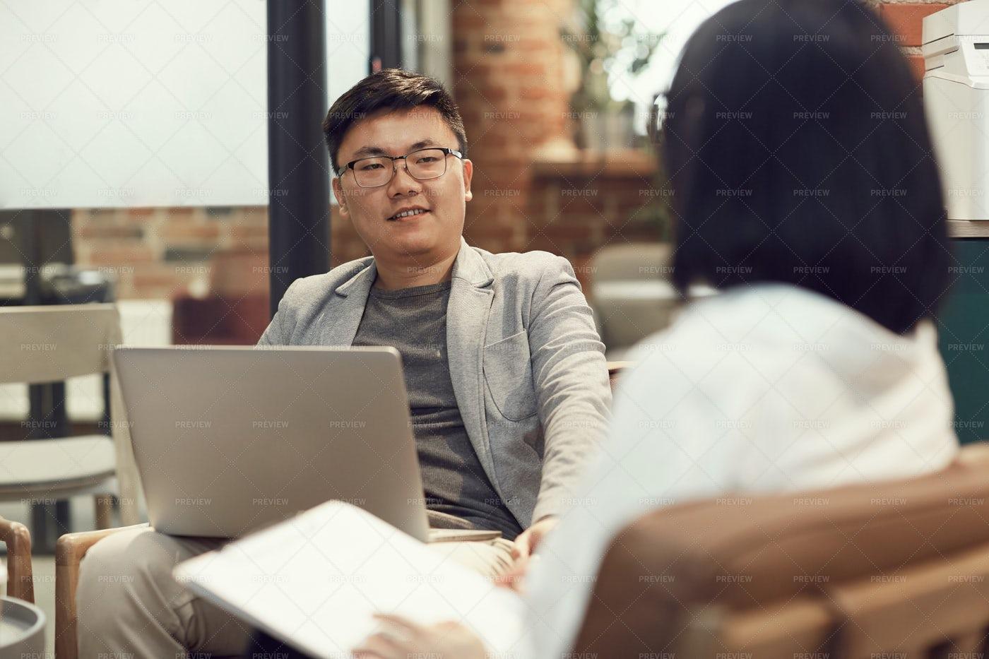 Asian Business People Meeting: Stock Photos