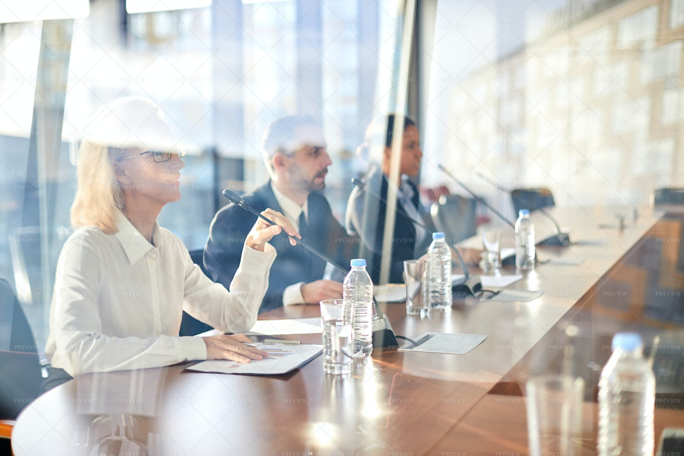 Speakers At Business Conference: Stock Photos