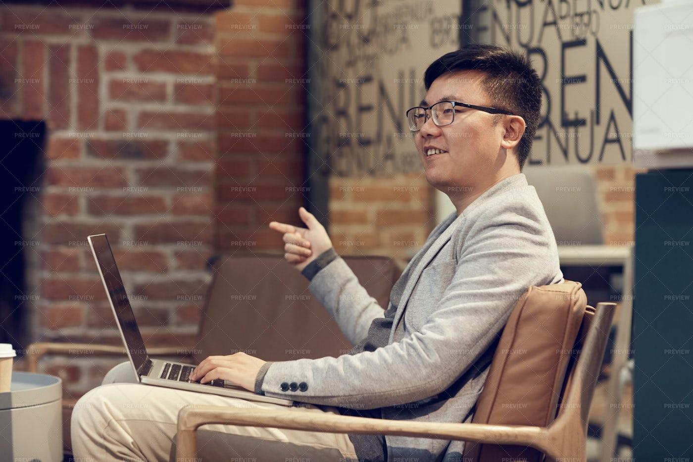 Asian Entrepreneur In Meeting: Stock Photos