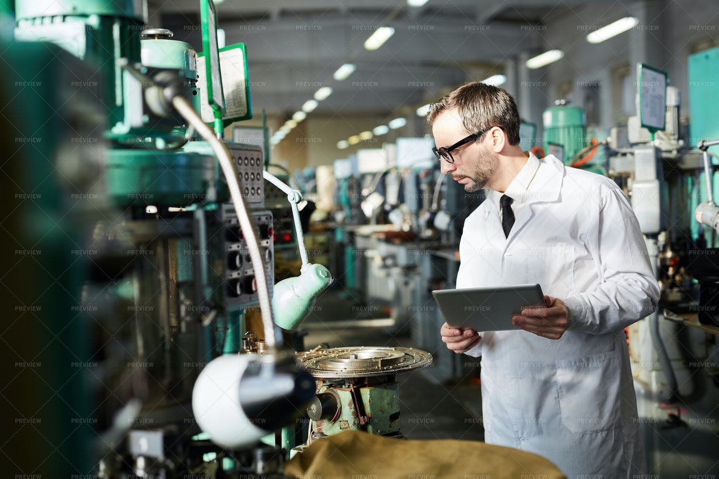 Quality Control At Factory: Stock Photos