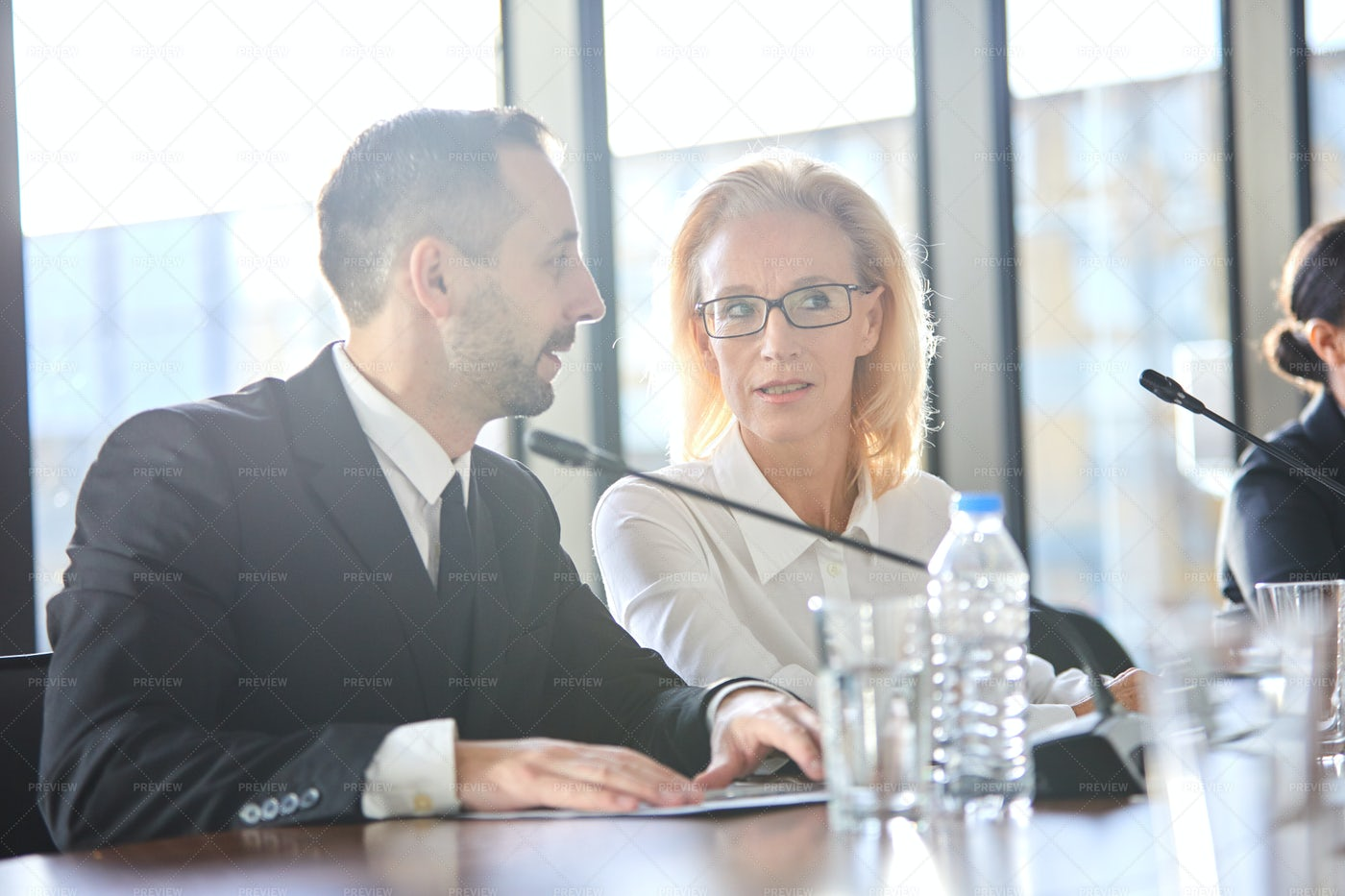 Brokers At Conference: Stock Photos