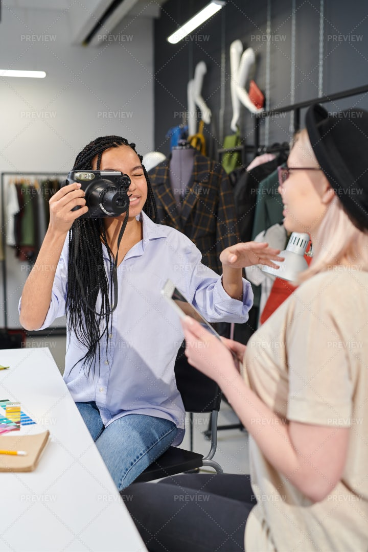 Designers Making Blog About Fashion: Stock Photos