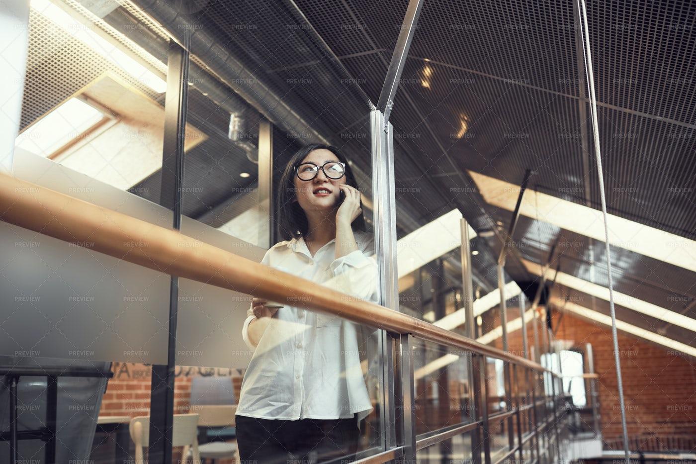 Businesswoman Speaking On Phone: Stock Photos