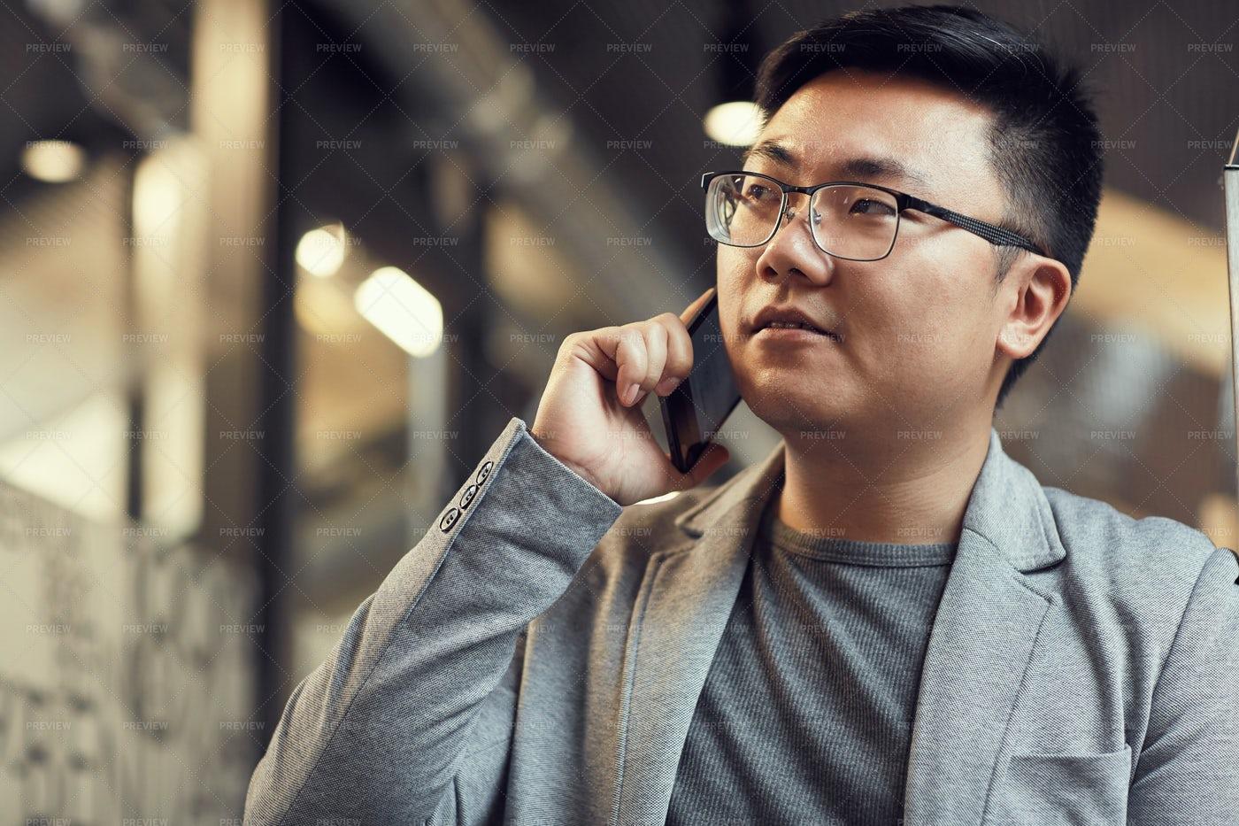 Businessman On Phone: Stock Photos