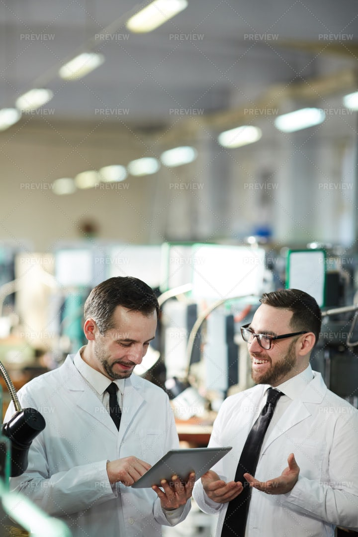 Workers At Modern Production...: Stock Photos