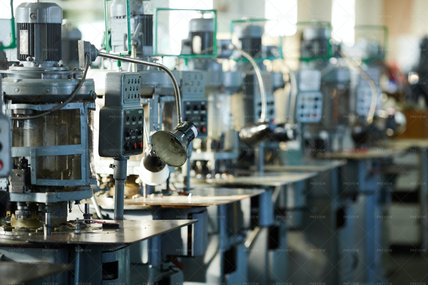 Industrial Machine Units In Row: Stock Photos