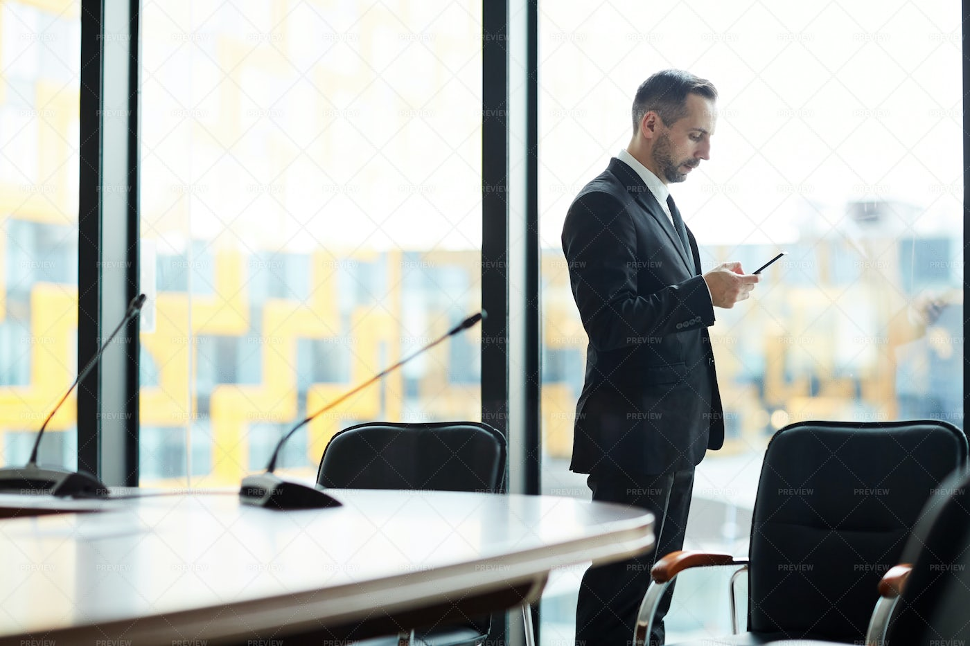 Delegate In Conference Hall: Stock Photos