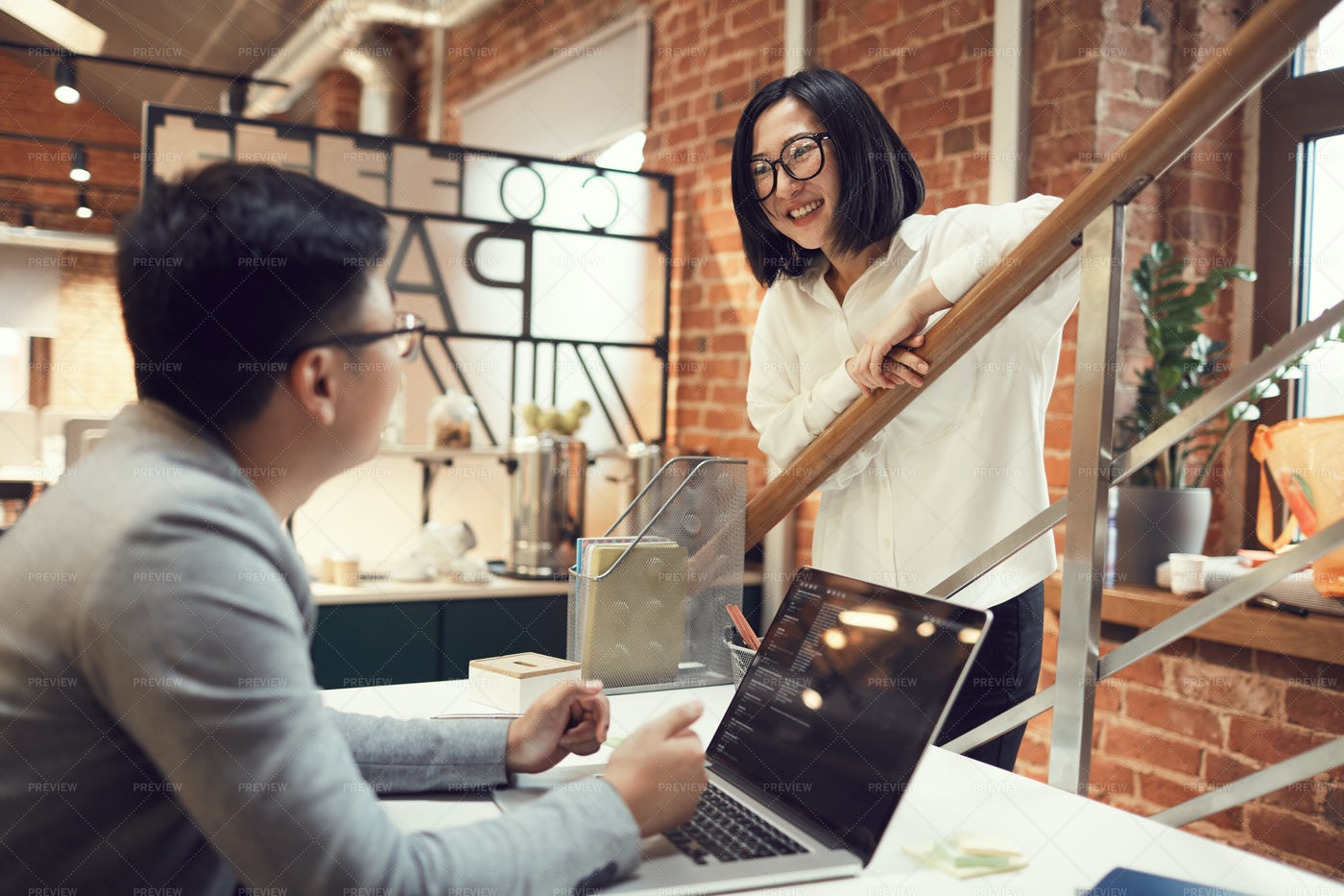 Young Asian Business People In...: Stock Photos