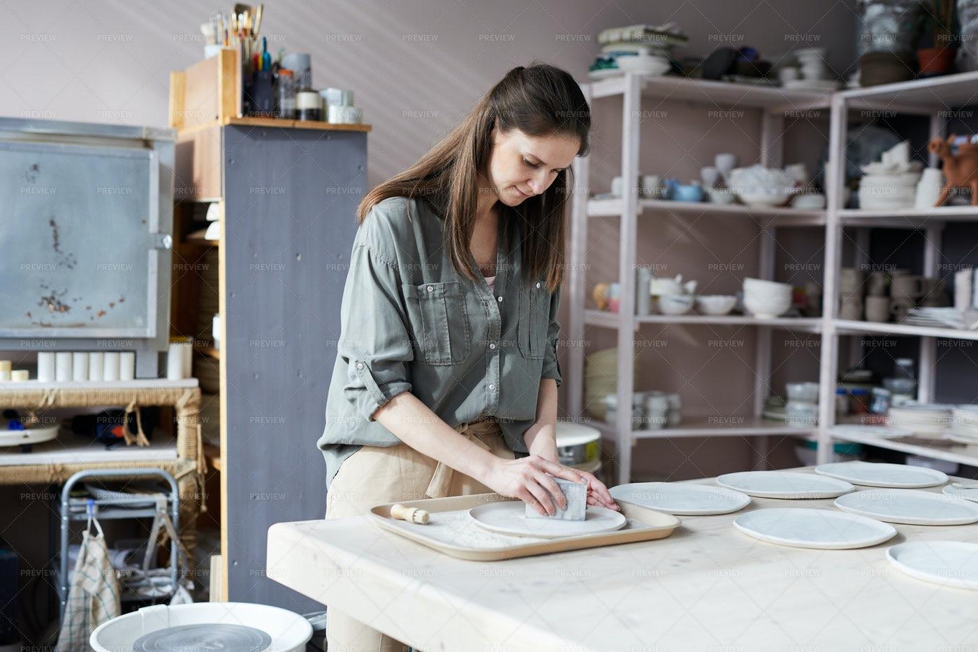 Female Ceramist: Stock Photos