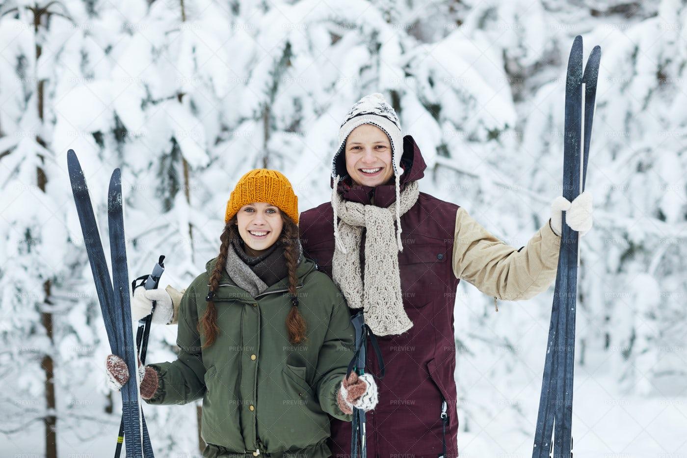 Active Couple Outdoors: Stock Photos