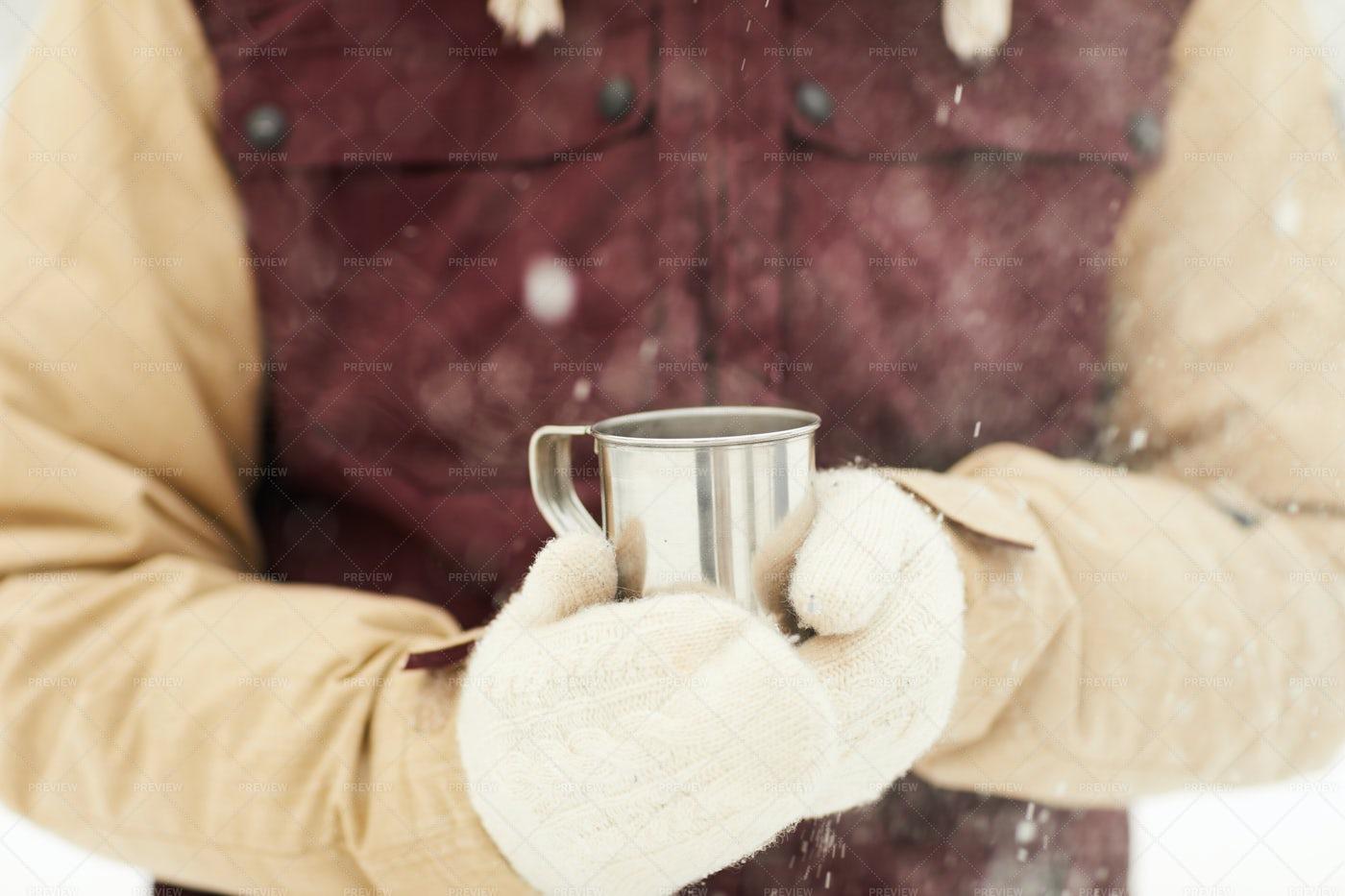 Hot Cocoa Outdoors: Stock Photos