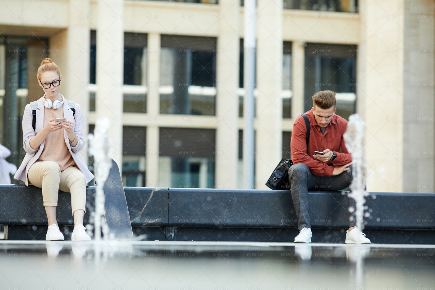 Modern Young People Using...: Stock Photos