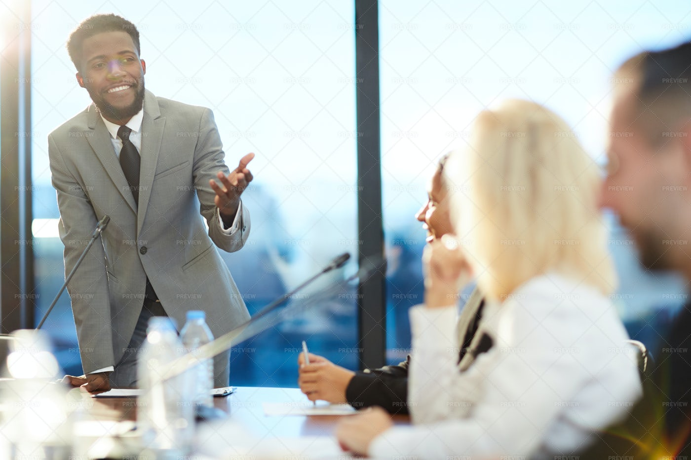 Speaker In Front Of Audience: Stock Photos