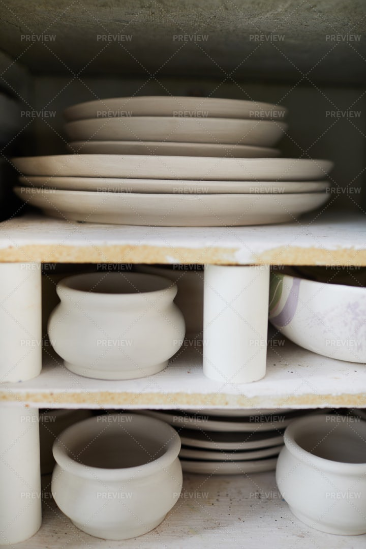 Unfinished Pottery Items: Stock Photos